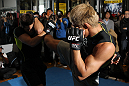 TOKYO, JAPAN - FEBRUARY 22:  Yoshihiro Akiyama works out for the media during the UFC 144 open workouts at Gold's Gym on February 22, 2012 in Tokyo, Japan.  (Photo by Josh Hedges/Zuffa LLC/Zuffa LLC via Getty Images) *** Local Caption *** Yoshihiro Akiyama