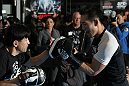 TOKYO, JAPAN - FEBRUARY 22:  Yushin Okami works out for the media during the UFC 144 open workouts at Gold's Gym on February 22, 2012 in Tokyo, Japan.  (Photo by Josh Hedges/Zuffa LLC/Zuffa LLC via Getty Images) *** Local Caption *** Yushin Okami