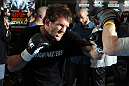 TOKYO, JAPAN - FEBRUARY 22:  Ryan Bader works out for the media during the UFC 144 open workouts at Gold&#39;s Gym on February 22, 2012 in Tokyo, Japan.  (Photo by Josh Hedges/Zuffa LLC/Zuffa LLC via Getty Images) *** Local Caption *** Ryan Bader
