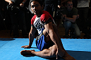 TOKYO, JAPAN - FEBRUARY 22:  Benson Henderson works out for the media during the UFC 144 open workouts at Gold&#39;s Gym on February 22, 2012 in Tokyo, Japan.  (Photo by Josh Hedges/Zuffa LLC/Zuffa LLC via Getty Images) *** Local Caption *** Benson Henderson