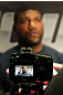 "TOKYO, JAPAN - FEBRUARY 22:  Quinton ""Rampage"" Jackson answers questions from the media during the UFC 144 open workouts at Gold's Gym on February 22, 2012 in Tokyo, Japan.  (Photo by Josh Hedges/Zuffa LLC/Zuffa LLC via Getty Images) *** Local Caption *** Quinton Jackson"