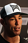 TOKYO, JAPAN - FEBRUARY 22:  Jake Shields answers questions from the media during the UFC 144 open workouts at Gold's Gym on February 22, 2012 in Tokyo, Japan.  (Photo by Josh Hedges/Zuffa LLC/Zuffa LLC via Getty Images) *** Local Caption *** Jake Shields