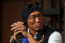 TOKYO, JAPAN - FEBRUARY 23:  Yoshihiro Akiyama attends the final UFC 144 pre-fight press conference at the Ritz-Carlton Hotel on February 23, 2012 in Tokyo, Japan.  (Photo by Josh Hedges/Zuffa LLC/Zuffa LLC via Getty Images) *** Local Caption *** Yoshihiro Akiyama