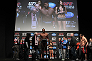 "SAITAMA, JAPAN - FEBRUARY 25:  Quinton ""Rampage"" Jackson fails to make weight during the official UFC 144 weigh in at the Saitama Super Arena on February 25, 2012 in Saitama, Japan.  (Photo by Josh Hedges/Zuffa LLC/Zuffa LLC via Getty Images) *** Local Caption *** Quinton Jackson"