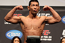 SAITAMA, JAPAN - FEBRUARY 25:  Riki Fukuda weighs in during the official UFC 144 weigh in at the Saitama Super Arena on February 25, 2012 in Saitama, Japan.  (Photo by Josh Hedges/Zuffa LLC/Zuffa LLC via Getty Images) *** Local Caption *** Riki Fukuda