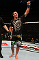 SAITAMA, JAPAN - FEBRUARY 26:  Jake Shields reacts after defeating Yoshihiro Akiyama during the UFC 144 event at Saitama Super Arena on February 26, 2012 in Saitama, Japan.  (Photo by Al Bello/Zuffa LLC/Zuffa LLC via Getty Images) *** Local Caption *** Jake Shields