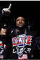 SAITAMA, JAPAN - FEBRUARY 26:  Quinton &quot;Rampage&quot; Jackson enters the arena before his bout against Ryan Bader during the UFC 144 event at Saitama Super Arena on February 26, 2012 in Saitama, Japan.  (Photo by Al Bello/Zuffa LLC/Zuffa LLC via Getty Images) *** Local Caption *** Quinton Jackson