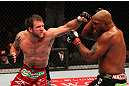 "SAITAMA, JAPAN - FEBRUARY 26:  (L-R) Ryan Bader punches Quinton ""Rampage"" Jackson during the UFC 144 event at Saitama Super Arena on February 26, 2012 in Saitama, Japan.  (Photo by Al Bello/Zuffa LLC/Zuffa LLC via Getty Images) *** Local Caption *** Quinton Jackson; Ryan Bader"