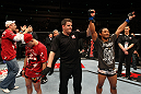 SAITAMA, JAPAN - FEBRUARY 26:  Benson Henderson (R) reacts after defeating Frankie Edgar (L) to win the UFC Lightweight Championship during the UFC 144 event at Saitama Super Arena on February 26, 2012 in Saitama, Japan.  (Photo by Al Bello/Zuffa LLC/Zuffa LLC via Getty Images) *** Local Caption *** Benson Henderson; Frankie Edgar