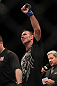 SAITAMA, JAPAN - FEBRUARY 26:  Jake Shields reacts after defeating Yoshihiro Akiyama during the UFC 144 event at Saitama Super Arena on February 26, 2012 in Saitama, Japan.  (Photo by Josh Hedges/Zuffa LLC/Zuffa LLC via Getty Images) *** Local Caption *** Jake Shields