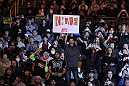 SAITAMA, JAPAN - FEBRUARY 26:  Fans cheer during the Rampage v Bader bout during the UFC 144 event at Saitama Super Arena on February 26, 2012 in Saitama, Japan.  (Photo by Josh Hedges/Zuffa LLC/Zuffa LLC via Getty Images)