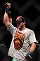 "SAITAMA, JAPAN - FEBRUARY 26:  Ryan Bader reacts after defeating Quinton ""Rampage"" Jackson during the UFC 144 event at Saitama Super Arena on February 26, 2012 in Saitama, Japan.  (Photo by Josh Hedges/Zuffa LLC/Zuffa LLC via Getty Images) *** Local Caption *** Ryan Bader"
