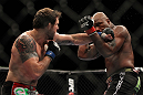 "SAITAMA, JAPAN - FEBRUARY 26:  (L-R) Ryan Bader punches Quinton ""Rampage"" Jackson during the UFC 144 event at Saitama Super Arena on February 26, 2012 in Saitama, Japan.  (Photo by Josh Hedges/Zuffa LLC/Zuffa LLC via Getty Images) *** Local Caption *** Quinton Jackson; Ryan Bader"