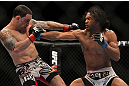 SAITAMA, JAPAN - FEBRUARY 26:  (R-L) Benson Henderson punches Frankie Edgar during the UFC 144 event at Saitama Super Arena on February 26, 2012 in Saitama, Japan.  (Photo by Josh Hedges/Zuffa LLC/Zuffa LLC via Getty Images) *** Local Caption *** Frankie Edgar; Benson Henderson