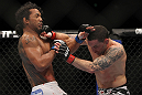 SAITAMA, JAPAN - FEBRUARY 26:  (R-L) Frankie Edgar punches Benson Henderson during the UFC 144 event at Saitama Super Arena on February 26, 2012 in Saitama, Japan.  (Photo by Josh Hedges/Zuffa LLC/Zuffa LLC via Getty Images) *** Local Caption *** Frankie Edgar; Benson Henderson