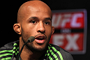 SYDNEY, AUSTRALIA - MARCH 01:  Demetrious Johnson attends the UFC on FX press conference at the Star Casino on March 1, 2012 in Sydney, Australia.  (Photo by Josh Hedges/Zuffa LLC/Zuffa LLC via Getty Images) *** Local Caption *** Demetrious Johnson