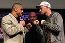 SYDNEY, AUSTRALIA - MARCH 01:  (L-R) Opponents Thiago Alves and Martin Kampmann face off during the UFC on FX press conference at the Star Casino on March 1, 2012 in Sydney, Australia.  (Photo by Josh Hedges/Zuffa LLC/Zuffa LLC via Getty Images) *** Local Caption *** Martin Kampmann; Thiago Alves
