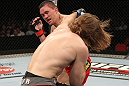 SYDNEY, AUSTRALIA - MARCH 03:  (R-L) Andrew Craig punches Kyle Noke during a middleweight bout during the UFC on FX event at Allphones Arena on March 3, 2012 in Sydney, Australia.  (Photo by Josh Hedges/Zuffa LLC/Zuffa LLC via Getty Images) *** Local Caption *** Kyle Noke; Andrew Craig