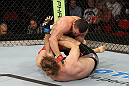 SYDNEY, AUSTRALIA - MARCH 03:  (R-L) Kyle Noke punches Andrew Craig in their middleweight bout during the UFC on FX event at Allphones Arena on March 3, 2012 in Sydney, Australia.  (Photo by Josh Hedges/Zuffa LLC/Zuffa LLC via Getty Images) *** Local Caption *** Kyle Noke; Andrew Craig