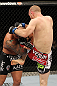 SYDNEY, AUSTRALIA - MARCH 03:  (R-L) Martin Kampmann delivers a knee strike against Thiago Alves in a welterweight bout during the UFC on FX event at Allphones Arena on March 3, 2012 in Sydney, Australia.  (Photo by Josh Hedges/Zuffa LLC/Zuffa LLC via Getty Images) *** Local Caption *** Thiago Alves; Martin Kampmann