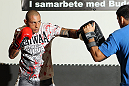 STOCKHOLM, SWEDEN - APRIL 11:  Thiago Silva works out for the media during the UFC open workouts at Pancrase Gym on April 11, 2012 in Stockholm, Sweden.  (Photo by Josh Hedges/Zuffa LLC/Zuffa LLC via Getty Images)