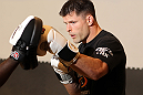 STOCKHOLM, SWEDEN - APRIL 11:  Brian Stann works out for the media during the UFC open workouts at Pancrase Gym on April 11, 2012 in Stockholm, Sweden.  (Photo by Josh Hedges/Zuffa LLC/Zuffa LLC via Getty Images)