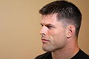 STOCKHOLM, SWEDEN - APRIL 11:  Brian Stann of the United States works out for the media during the UFC open workouts at Pancrase Gym on April 11, 2012 in Stockholm, Sweden.  (Photo by Josh Hedges/Zuffa LLC/Zuffa LLC via Getty Images)