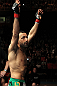 STOCKHOLM, SWEDEN - APRIL 14:  Reza Madadi of Sweden prepares to enter the Octagon before his bout against Yoislandy Izquierdo at the UFC on Fuel TV event at Ericsson Globe on April 14, 2012 in Stockholm, Sweden.  (Photo by Josh Hedges/Zuffa LLC/Zuffa LLC via Getty Images)