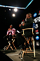 ATLANTA, GA - APRIL 18:  Jon Jones and Rashad Evans converse with the media during the press conference for their UFC 145 bout at Park Tavern on April 18, 2012 in Atlanta, Georgia.  (Photo by Kevin C. Cox/Zuffa LLC/Zuffa LLC via Getty Images)
