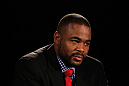 ATLANTA, GA - APRIL 18:  Rashad Evans converses with the media during the press conference for his UFC 145 bout against Jon Jones at Park Tavern on April 18, 2012 in Atlanta, Georgia.  (Photo by Kevin C. Cox/Zuffa LLC/Zuffa LLC via Getty Images)