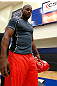 ATLANTA, GA - APRIL 19:  Rashad Evans prepares to work out for the media during UFC 145 open workouts at GSU Sports Arena on April 19, 2012 in Atlanta, Georgia.  (Photo by Kevin C. Cox/Zuffa LLC/Zuffa LLC via Getty Images)