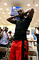 ATLANTA, GA - APRIL 19:  Jon Jones prepares to work out for the media during UFC 145 open workouts at GSU Sports Arena on April 19, 2012 in Atlanta, Georgia.  (Photo by Kevin C. Cox/Zuffa LLC/Zuffa LLC via Getty Images)