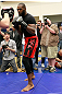 ATLANTA, GA - APRIL 19:  Jon Jones works out for the media during UFC 145 open workouts at GSU Sports Arena on April 19, 2012 in Atlanta, Georgia.  (Photo by Kevin C. Cox/Zuffa LLC/Zuffa LLC via Getty Images)