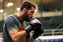 ATLANTA, GA - APRIL 19:  Matt Brown works out for the media during UFC 145 open workouts at GSU Sports Arena on April 19, 2012 in Atlanta, Georgia.  (Photo by Kevin C. Cox/Zuffa LLC/Zuffa LLC via Getty Images)