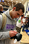 ATLANTA, GA - APRIL 19:  Rory MacDonald of Canada signs autographs after working out for the media during UFC 145 open workouts at GSU Sports Arena on April 19, 2012 in Atlanta, Georgia.  (Photo by Kevin C. Cox/Zuffa LLC/Zuffa LLC via Getty Images)