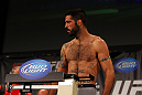 ATLANTA, GA - APRIL 20:  Welterweight fighter Matt Brown weighs in for his bout against Stephen Thompson during the UFC 145 official weigh in at Fox Theatre on April 20, 2012 in Atlanta, Georgia.  (Photo by Al Bello/Zuffa LLC/Zuffa LLC via Getty Images)
