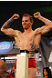 ATLANTA, GA - APRIL 20:  Lightweight fighter John Alessio weighs in for his bout against Mark Bocek during the UFC 145 official weigh in at Fox Theatre on April 20, 2012 in Atlanta, Georgia.  (Photo by Al Bello/Zuffa LLC/Zuffa LLC via Getty Images)
