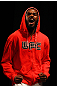 ATLANTA, GA - APRIL 20:  Light Heavyweight fighter Jon Jones reacts during the UFC 145 official weigh in at Fox Theatre on April 20, 2012 in Atlanta, Georgia.  (Photo by Al Bello/Zuffa LLC/Zuffa LLC via Getty Images)