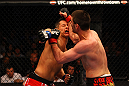 ATLANTA, GA - APRIL 21:  Keith Wisniewski hits Chris Clements with an elbow during their welterweight bout for UFC 145 at Philips Arena on April 21, 2012 in Atlanta, Georgia.  (Photo by Al Bello/Zuffa LLC/Zuffa LLC via Getty Images)