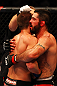 ATLANTA, GA - APRIL 21:  Matt Brown (R) and Stephen Thompson embrace after their welterweight bout for UFC 145 at Philips Arena on April 21, 2012 in Atlanta, Georgia.  (Photo by Al Bello/Zuffa LLC/Zuffa LLC via Getty Images)