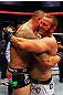 ATLANTA, GA - APRIL 21:  Travis Browne (L) embraces Chad Griggs after defeating him by tap out in their heavyweight bout for UFC 145 at Philips Arena on April 21, 2012 in Atlanta, Georgia.  (Photo by Al Bello/Zuffa LLC/Zuffa LLC via Getty Images)