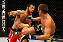 ATLANTA, GA - APRIL 21:  Matt Brown (L) fights Stephen Thompson during their welterweight bout for UFC 145 at Philips Arena on April 21, 2012 in Atlanta, Georgia.  (Photo by Al Bello/Zuffa LLC/Zuffa LLC via Getty Images)