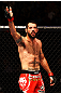 ATLANTA, GA - APRIL 21:  Matt Brown gets the crowd excited during his welterweight bout against Stephen Thompson for UFC 145 at Philips Arena on April 21, 2012 in Atlanta, Georgia.  (Photo by Al Bello/Zuffa LLC/Zuffa LLC via Getty Images)