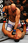 ATLANTA, GA - APRIL 21:  Ben Rothwell (top) punches Brendan Schaub during their heavyweight bout for UFC 145 at Philips Arena on April 21, 2012 in Atlanta, Georgia.  (Photo by Al Bello/Zuffa LLC/Zuffa LLC via Getty Images)