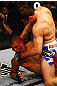 ATLANTA, GA - APRIL 21:  Rory MacDonald 9top) punches Che Mills during their welterweight bout for UFC 145 at Philips Arena on April 21, 2012 in Atlanta, Georgia.  (Photo by Al Bello/Zuffa LLC/Zuffa LLC via Getty Images)