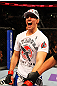 ATLANTA, GA - APRIL 21: Rory MacDonald celebrates after defeating Che Mills by TKO during their welterweight bout for UFC 145 at Philips Arena on April 21, 2012 in Atlanta, Georgia. (Photo by Al Bello/Zuffa LLC/Zuffa LLC via Getty Images)