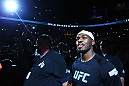 ATLANTA, GA - APRIL 21:  Jon Jones arrives for his light heavyweight title bout against Rashad Evans for UFC 145 at Philips Arena on April 21, 2012 in Atlanta, Georgia.  (Photo by Al Bello/Zuffa LLC/Zuffa LLC via Getty Images)
