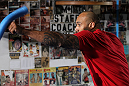 NEW YORK, NY - MAY 02:  Lavar Johnson works out for the fans and media during the UFC on FOX open workouts at Church Street Boxing Gym on May 2, 2012 in New York City.  (Photo by Josh Hedges/Zuffa LLC/Zuffa LLC via Getty Images)