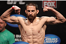 EAST RUTHERFORD, NJ - MAY 04:  Nick Denis weighs in during the UFC on FOX official weigh in at Izod Center on May 4, 2012 in East Rutherford, New Jersey.  (Photo by Josh Hedges/Zuffa LLC/Zuffa LLC via Getty Images)