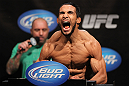 EAST RUTHERFORD, NJ - MAY 04:  Dennis Bermudez weighs in during the UFC on FOX official weigh in at Izod Center on May 4, 2012 in East Rutherford, New Jersey.  (Photo by Josh Hedges/Zuffa LLC/Zuffa LLC via Getty Images)